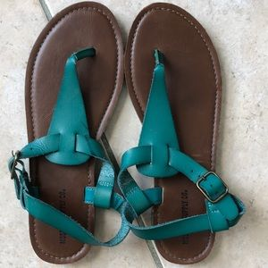 Mossimo teal colored thong sandals brand NEW sz 7